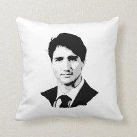 Justin Trudeau Portrait Throw Pillow