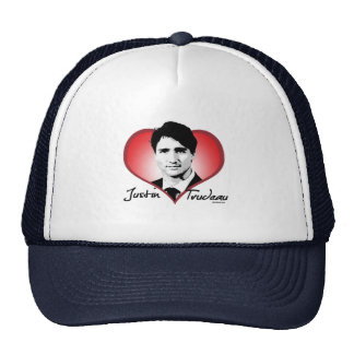 Justin Trudeau Signature Heart -.png Trucker Hat