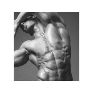 Justin Woltering Bodybuilder Picture Wrap Canvas Print