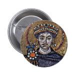 Justinian I, San Vitale (Ravenna) Choir Mosaics A Button