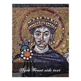 "Justinian I, San Vitale (Ravenna) Choir Mosaics A 8.5"" X 11"" Flyer"