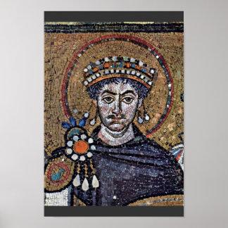 Justinian I, San Vitale (Ravenna) Choir Mosaics A Print