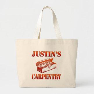 Justin's Carpentry Large Tote Bag