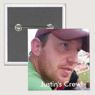 Justin's Semi-Colon Crew! Pinback Button