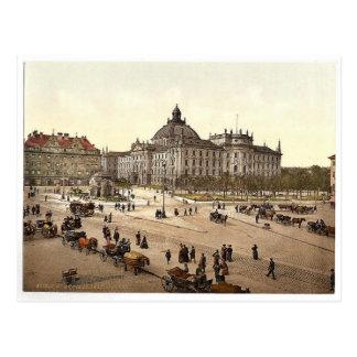Justisplatz, obra clásica Phot de Munich, Baviera, Postal