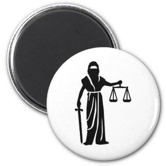Justitia court fridge magnet