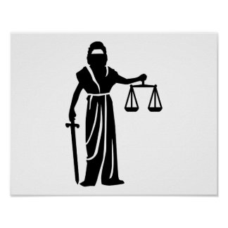 Justitia court posters