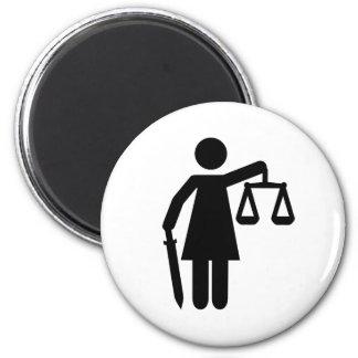 Justitia justice magnet