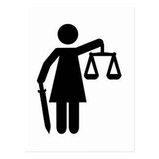 Justitia justice postcard