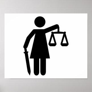 Justitia justice posters