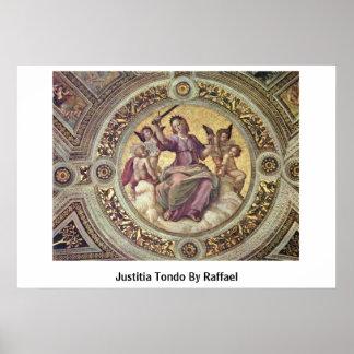 Justitia Tondo By Raffael Print