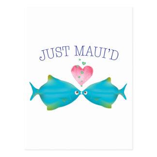 JustMauidBlueFish Tarjeta Postal