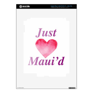 JustMauidHeart Just Maui'd Skins For iPad 3