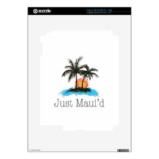 JustMauidTropical Just Maui'd iPad 2 Decal