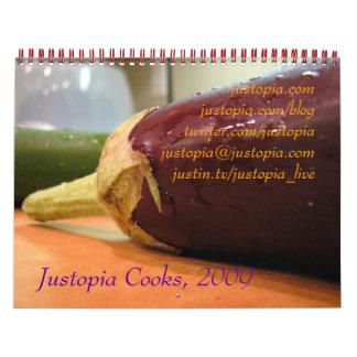 Justopia Cooks, 2009 Calendar