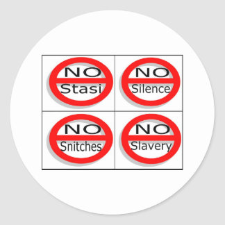 Justsayno Classic Round Sticker
