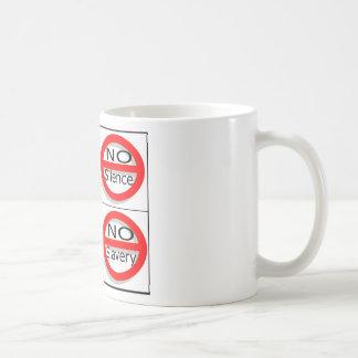 Justsayno Classic White Coffee Mug