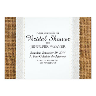 Jute and Lace Bridal Shower Invitations
