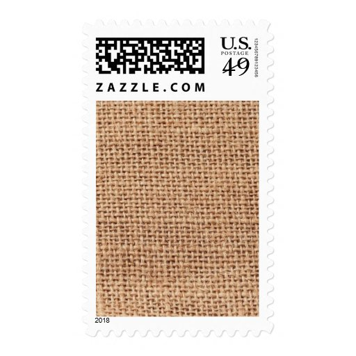 Jute Pattern Background Postage Stamps