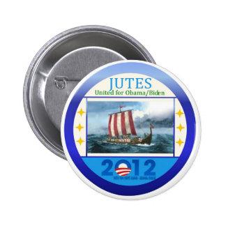 Jutes United for Obama Biden 2012 Pinback Button