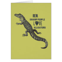 Juvenile Alligator Love Card