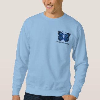 Juvenile Arthritis Butterfly Ribbon Sweatshirt