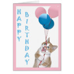 Juvenile birthday card