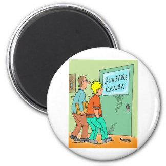Juvenile Delinquent Cartoon 2 Inch Round Magnet