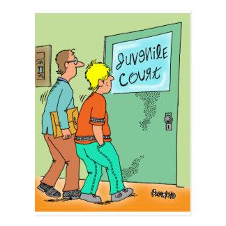 Juvenile Delinquent Cartoon Postcard
