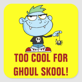Juvenile Delinquent Vampire School Dropout Square Sticker
