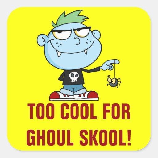 Juvenile delinquent vampire school dropout stickers zazzle for Stickers juveniles