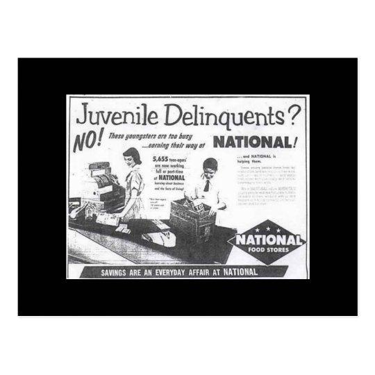 Juvenile Delinquent Vintage Ad Postcard