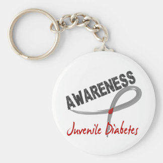 Juvenile Diabetes Awareness 3 Keychains