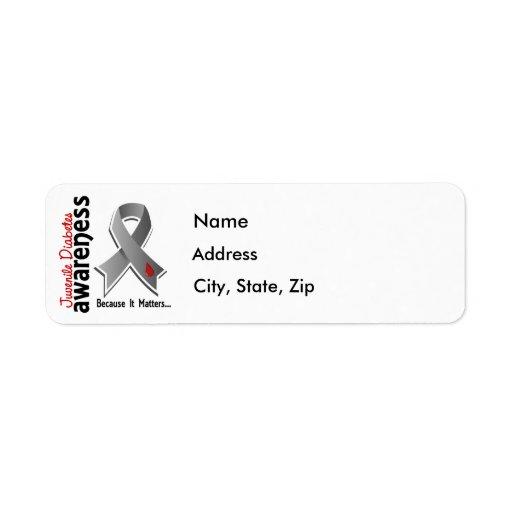 Juvenile Diabetes Awareness 5 Custom Return Address Labels