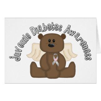 Juvenile Diabetes Awareness Bear Card