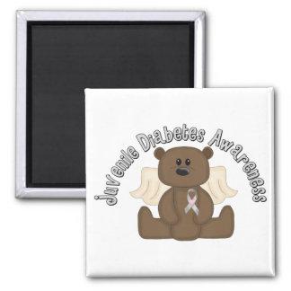 Juvenile Diabetes Awareness Bear Fridge Magnet