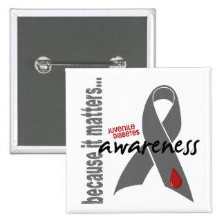 Juvenile Diabetes Awareness Pinback Buttons
