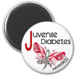 Juvenile Diabetes BUTTERFLY 3 2 Inch Round Magnet