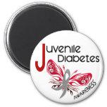 Juvenile Diabetes BUTTERFLY 3 Fridge Magnets