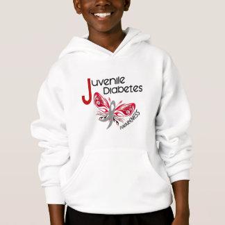Juvenile Diabetes BUTTERFLY 3 Hoodie
