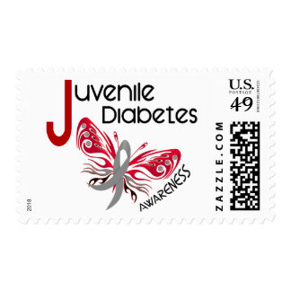 Juvenile Diabetes BUTTERFLY 3 Postage Stamp