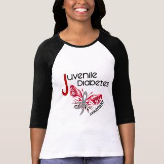 Juvenile Diabetes BUTTERFLY 3 T-Shirt