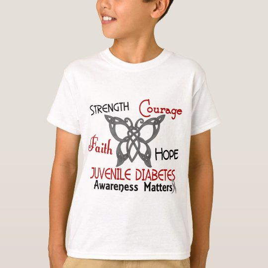 Juvenile Diabetes Celtic Butterfly 3 T-Shirt