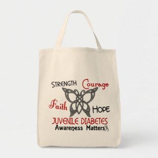 Juvenile Diabetes Celtic Butterfly 3 Tote Bag