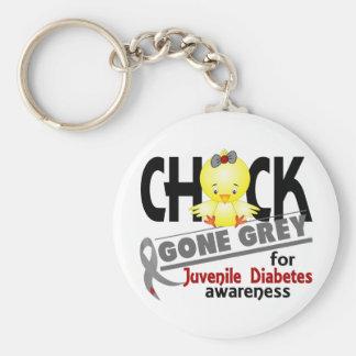 Juvenile Diabetes Chick Gone Grey 2 Key Chain