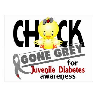 Juvenile Diabetes Chick Gone Grey 2 Postcard