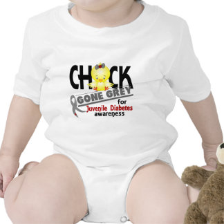 Juvenile Diabetes Chick Gone Grey 2 Baby Bodysuits