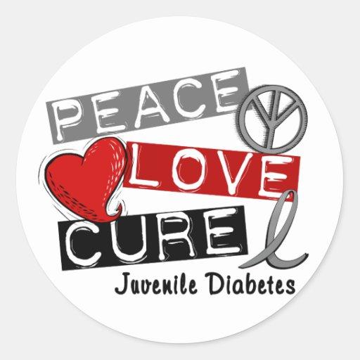 Juvenile diabetes classic round sticker zazzle for Stickers juveniles