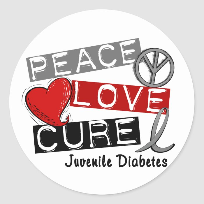 juvenile diabetes classic round sticker zazzle