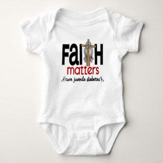 Juvenile Diabetes Faith Matters Cross 1 Baby Bodysuit